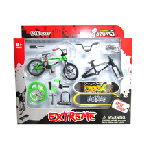 4Pcs Professional Flick Trix Finger Bmx Bikes/Bicycle/Bicicleta Fingerboard Fun Toy For Boys With Gadget Random Color Delivery(China)