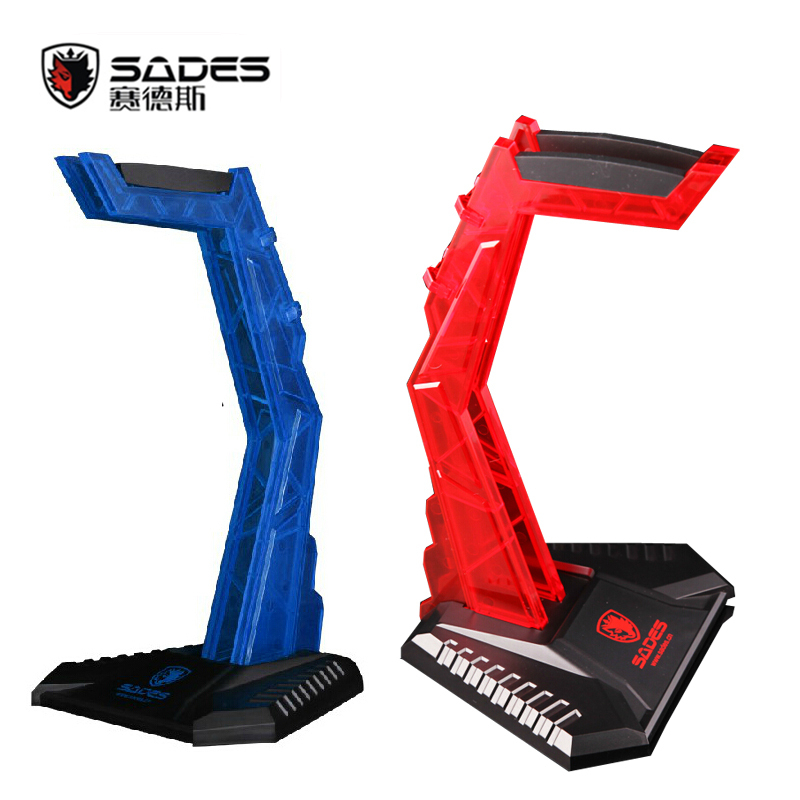 Sades Gaming Acrylic Stand Headset Hanger Shelf Rack Earphone Display Holder