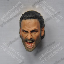 1/6 scale Head Sculpt Andrew Lincoln The Walking Dead Screaming Rick Grimes(China)