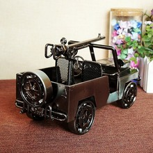 SMT002 Iron Vintage Car Model Chariot Ornaments Antique Iron crafts Gift(China)
