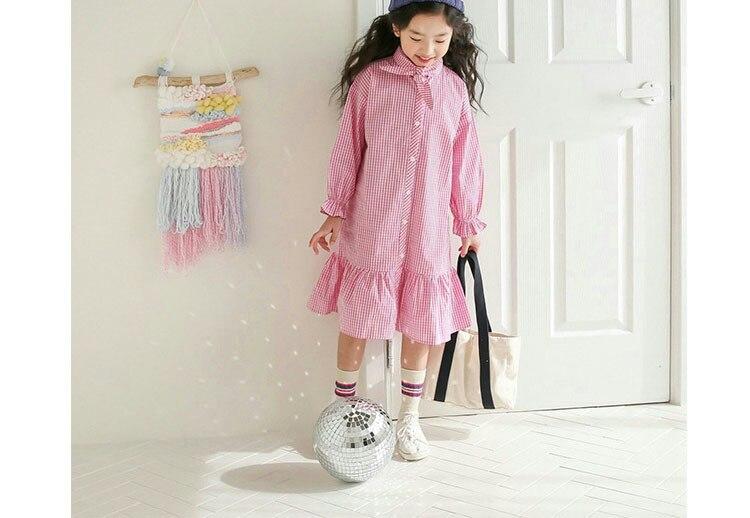 Spring Autumn Shirts Cotton Long Sleeve Children Princess Dresses White Black Plaid School Girls Dress 9 To 10 12 14 Years  4 5 6 7 8 9 10 11 12 13 14 15 years big baby  toddler   girls fall dress kids girl shirt (13).jpg