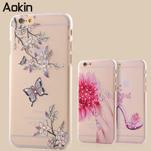 Aokin Bling Clear Cases for iPhone 5 5s se Case 3D Glitter Transparent Cover with Rhinestone Phone Hard Case for iPhone 5se 5 s