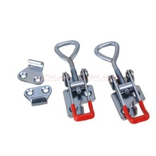 2pcs Quick adjustable locking clip Toggle Latch Metal Adjustable Toggle Latch Toggle Clamp with 3 holes/Speed clamp bolt