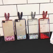Buy Banjolu New Bling Glitter Quicksand Bunny Rabbit Ear Phone Cases iPhone 8 Plus 7 7Plus 6 6s Plus Hard Back Case Cover for $5.50 in AliExpress store