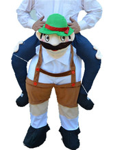 Carry Me Mascot Teddy Bear Stuffed Ride On Me Piggy Back Novelty Stag Mario Night Fancy Dress Halloween Costume for Purim Party