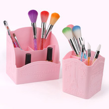 3/4 Cells Nail Tools Storage Box Organizer Dotting Pen Nail Brush Holder Nail Polish Container Makeup Brushes Display Shelf 2017(China)