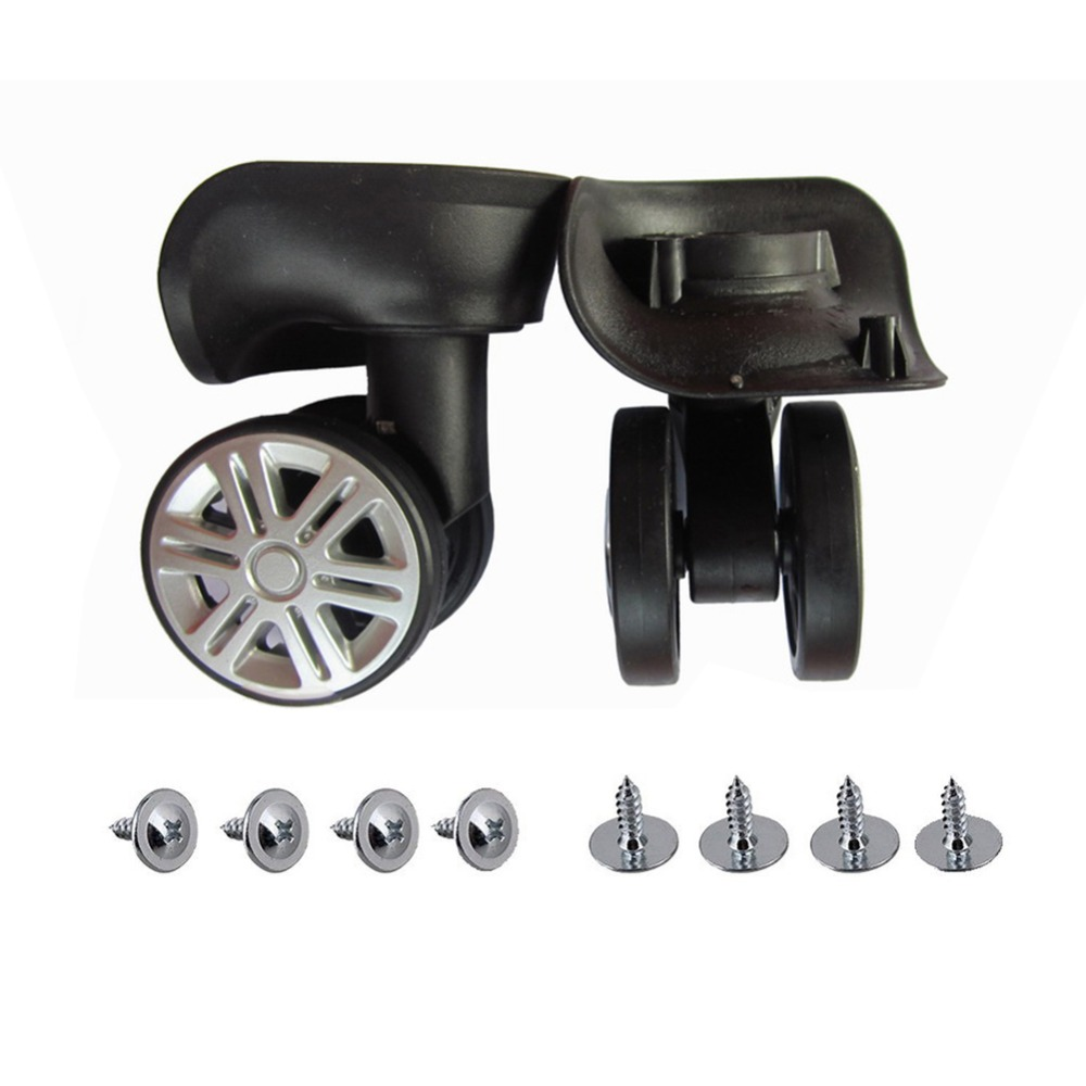 1Pair Swivel Casters Wheels Luggage Dual Roller Furniture Trolley Accessories US
