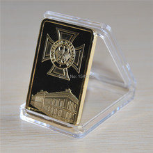 1 OZ GOLD IRON CROSS WW2 DEUTSCHE REICHSBANK GERMANY Gold Bar 2pcs/lot free shipping