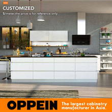 Kitchen Furniture Kitchen Cabinet hot sale new design  Modern High Gloss Lacquer Kitchen Cabinet OP16-L19