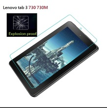 Hight quality 0.33mm ultra thin 9H tempered glass film for Lenovo Tab 3 730 730M(China)