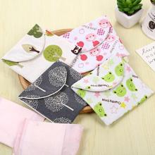 1 Pcs Cartoon Cotton Cushions Bags Sanitary Napkin Bag Female Gifts Storage Bag Organizer 13*12.5 cm Portable Bag Supplies A35