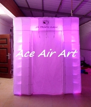 custom new cube tent inflatable led wedding photo booth with logo for advertising