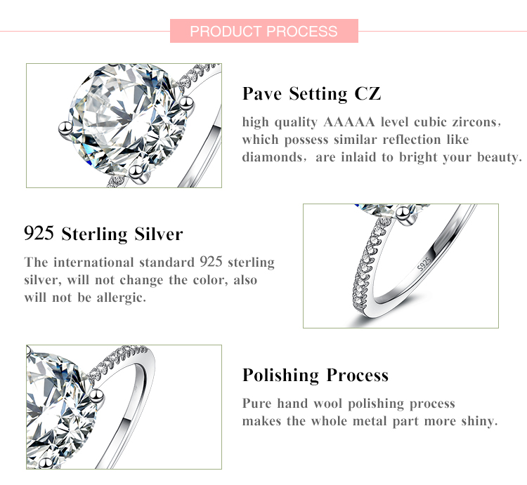 19 Classic Luxury Real Solid 925 Sterling Silver Ring 3Ct 10 Hearts Arrows Zircon Wedding Jewelry Rings Engagement For Women 5