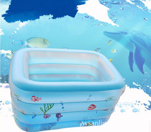 high quality outdoor portable chidren basin Bathtub swimming pool summer water fun pool toys Inflatable Paddling pool(China)