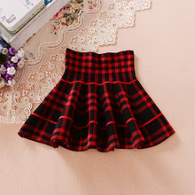 2017 Autumn Winter Skirts For Girls Fashion School Girls Pleated Skirts Kids Ball Gown Clothes Baby Child High Waist Tutu Skirts(China)