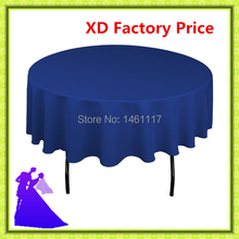 "2016 polyester (90"") royal blue table cloth fabric hotel table cloth chair cover wedding table cloth"