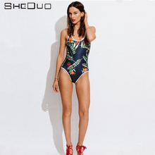 2017 new Swimwear Wild Women Bikini Low Waist Two-piece One Piece Bathing Suit Maillot Floral Print Beach Swimsuit Bikinis Set