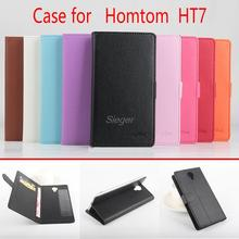 Buy Homtom HT7 Flip Case PU Wallet Magnetic Manual Line Stand Card Slot Leather Protect Shell Case Homtom HT7 for $4.99 in AliExpress store