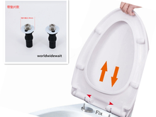2pcs Toilet Seat Hinges Blind Hole Fixings Expanding Rubber Top Nuts Screws