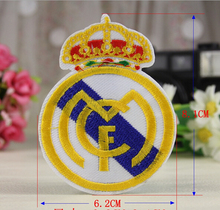 2015 New 2pcs/lot New Boys Football Team RMCF Embroidery Iron On Patches Clothes Appliques Sew On Motif Badge DIY Clothing Bag