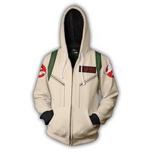zippé homme capuche à À 3D imprimés Capuche capuche à à sweats zippé c décontracté capuche 2019 à femme Ghostbusters sweat veste gqd88