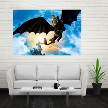 Nice How To Train Your Dragon Poster Custom Satin Poster Print Cloth Fabric Wall Poster Print Silk Fabric Print Poster(China)
