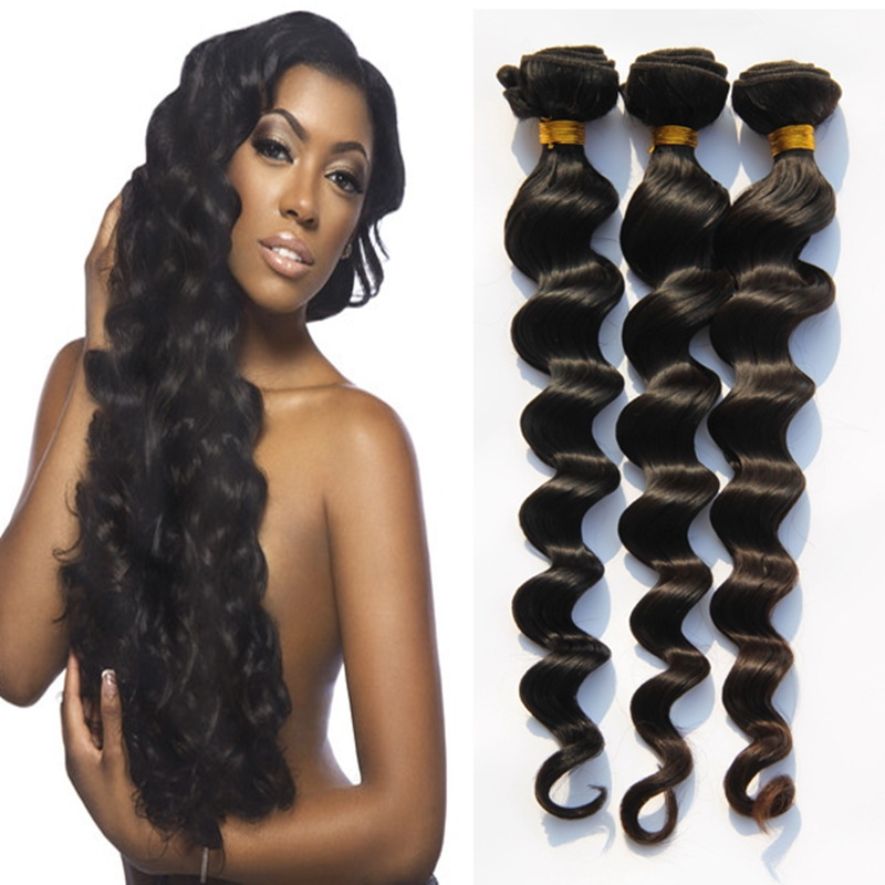 3PCS 8A Full Cuticle Human Hair Loose Wave Extensions Indian Unprocessed Loose Wave Virgin Hair Weave Wavy Hair Weft 12-26AL332<br><br>Aliexpress
