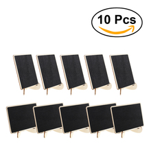 NEW 10x Rectangle Shape Mini Blackboard Stick Stand Place Holder Chalkboard Wedding Table Number Sign Wedding Party Decor