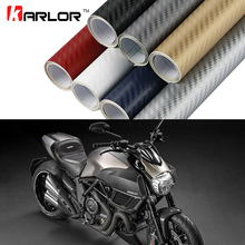10x127cm Motorcycle 3D Carbon Fiber Sheet Hydrograph Film Vinyl Motorbike Sticker Water Transfer Film Moto Motocross Accessories(China)