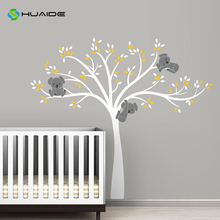 Modern Koala Tree Branches Wall Decal Baby Nursery Wall Decor Vinyl Mural DIY Wall Sticker For Kids Room Bedroom Wall Art A-31(China)