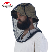 NatureHike fishing caps Mosquitoes Head Helmet Net mesh Insect Resistant Mask Head Net Outdoor Sports Anti Mosquito Camping hat(China)
