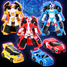 3pcs/set latest series mini transformation robot car 2 mode,3 styles small size car combination set for boy best gift(China)