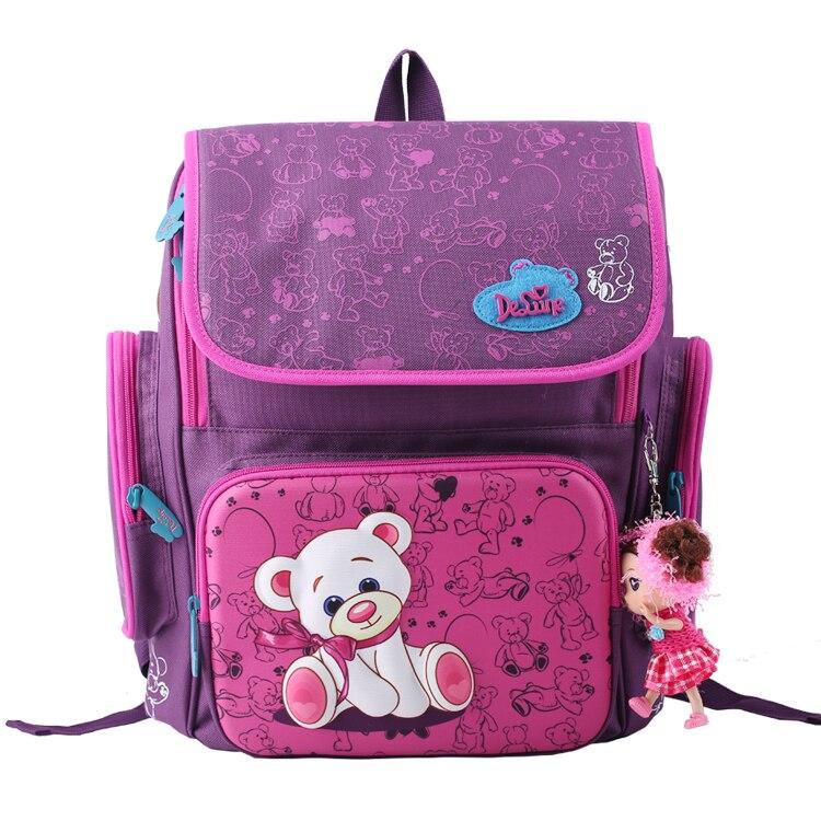 2017 New Arrival Butterfly School Bags Mochila Infantil Children Orthopedic School Backpack Girl Cute Bear Princess Kids Satchel<br><br>Aliexpress
