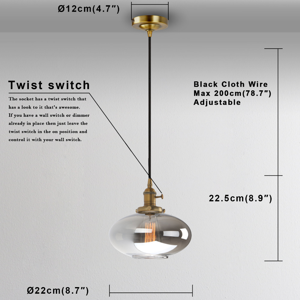 Permo Vintage Pendant Lights Reflective Glass Retro Luminaire Loft Wiring A Light Fixture To Wall Switch Frequently Asked Questions
