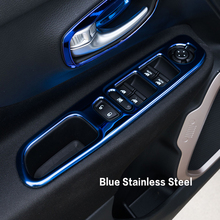 Interior Door Window Glass Switch Trim Control Button Cover Ring Outlet Kits ABS For Jeep Renegade 2015 2016