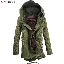 Men's Winter Jacket Warm Thicken Military Coats & Jackets Fashion Thick Cotton Padded Men Winter Parkas Outerwear Free Shipping