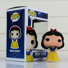 Funko Pop 08 Vinyl Figure Snow White Action Figures Princess White Snow Kawaii Figurine En Vinyle Baby Toys Figura De Vinyl 10cm