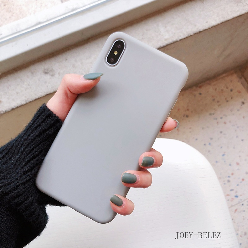 Matte Phone Cases For iPhone 7 Candy Case For iPhone X 7 6 6S 8 Plus 6 6S Case Cover XR XS MXA Coque Silicon Fundas Capa Carcasa19