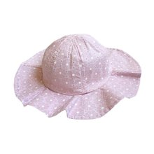 Summer Cotton Bucket Hat Toddler Children Girls Brim Beach Hat With Wide Brim Kids Pink Sun Hat(China)