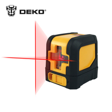 DEKOPRO Mini Style Self-Leveling Laser Level Cross Line Laser With Red Light Source & Adjustable Mounting Clamp(China)