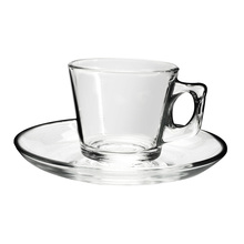 Single coffee cup and Saucer Set simple transparent 200ml tea drinking(China)