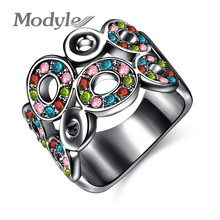 Modyle Christmas Gift Classic Luxury Rings Top Quality Genuine SWR crystal romantic hand made fashion jewelry