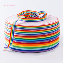 5 meters Webbing Strap - Rainbow Lace Ribbon Gift Wrapping Decoration, DIY Gift Craft Packing Hair Jewelry Making ZDD03