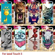 Soft TPU Cases For Apple iPod Touch 5 5th 5G touch5 Case Cute Animals Hard Cell Phone Cover Housings Bags Sheaths Skins Hoods