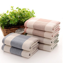 New Square Design Decorative Cotton Terry Cloth Hand Towels Elegant Embroidered Bathroom Hand Towels Cleaning Face Hand Towels(China)