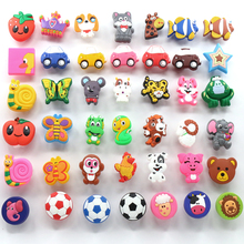Children protection cartoon soft plastic children furniture handles kids bedroom dresser knobs drawer pulls for Girls Boys room(China)