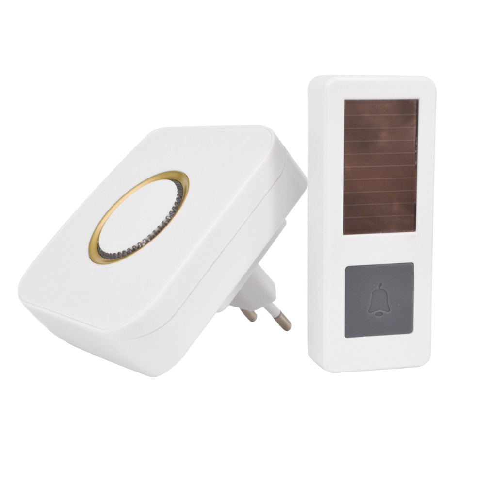 03CTVMAN Wireless Doorbell Solar Powered Push Wireless Doorbell