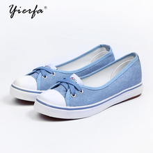 Spring light canvas shoes women shoes slip-on Korean tide students set foot pedal flat shoes(China)