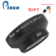 Pixco Professional 58mm 0.45X Wide Angle Lens with Macro Black Suit For Canon +with Rubber Air Blower Pump Dust Cleaner