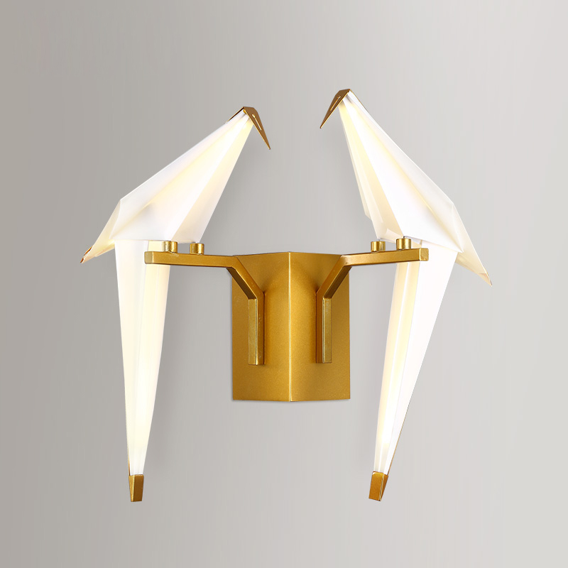 The double bedroom bedside lamp wall lamp and creative personality of American modern minimalist living bird aisle wall<br><br>Aliexpress